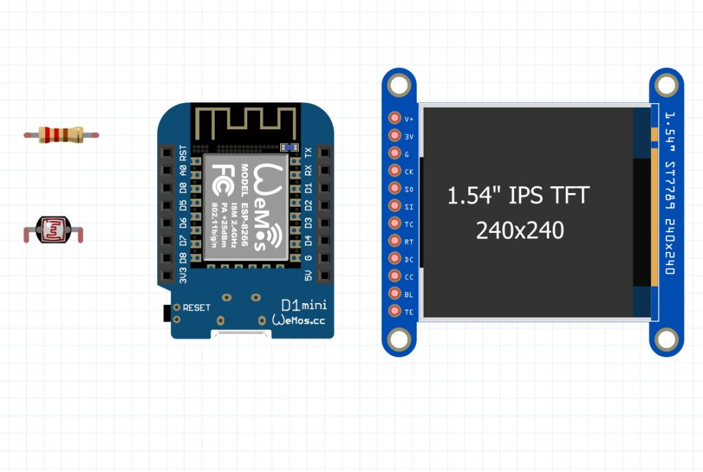 eye animation project on TFT LCDs and Wemos